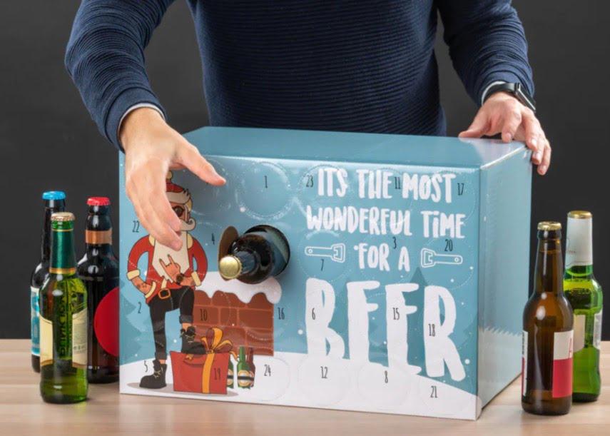 Gör egen julkalender med öl med en färdig mall