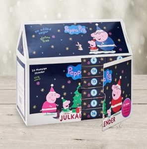 Greta gris julkalender för små barn