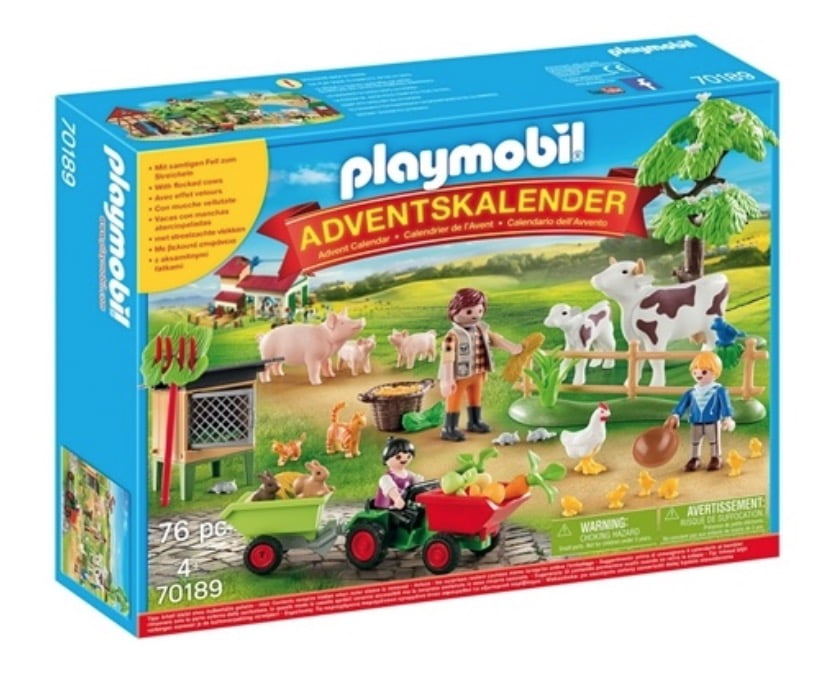 Playmobil julkalender på landet