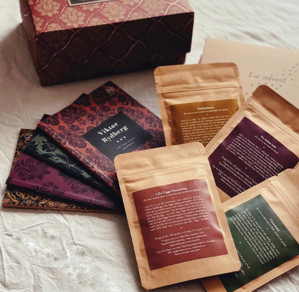 stunder i advent te & böcker